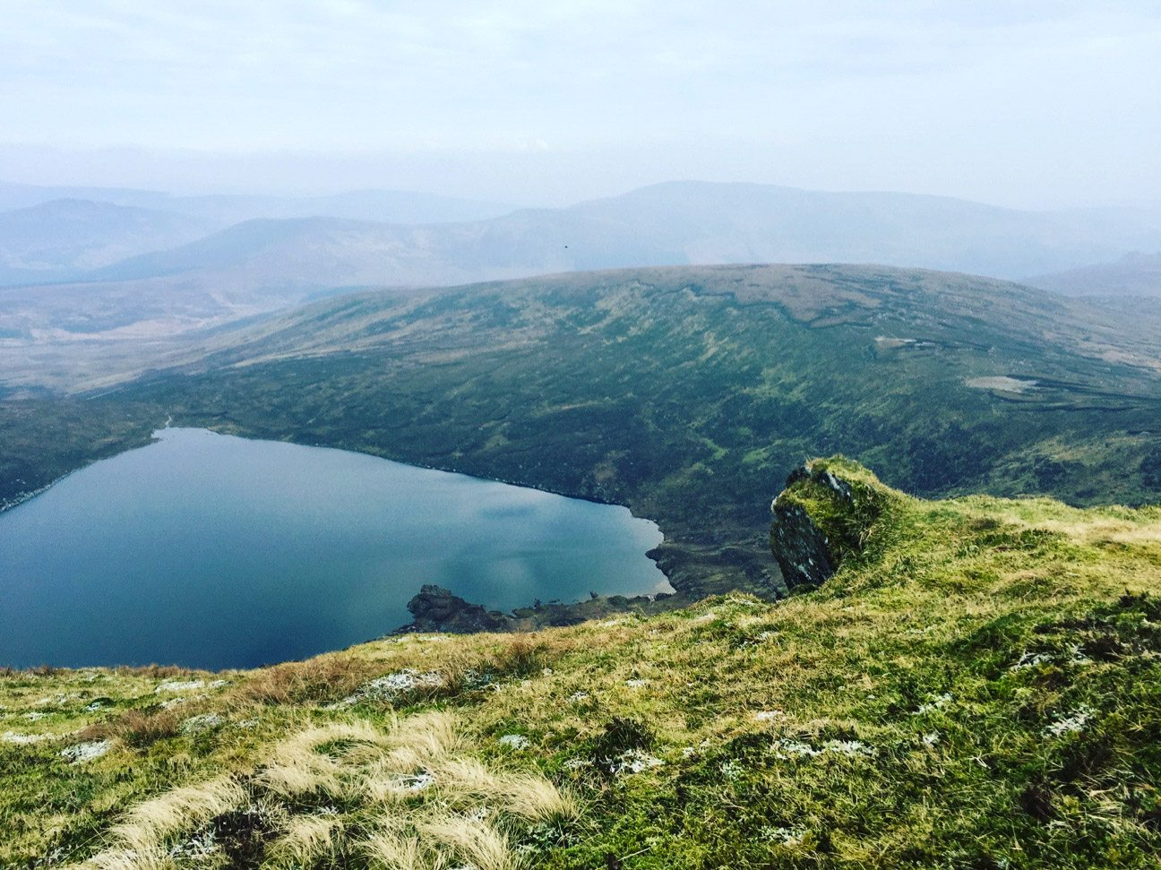 A view of Lough Ouler on a Wicklow hike